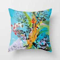 vegeta Throw Pillows featuring Vegeta by Latiber