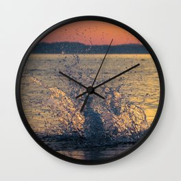 Drops of water on the sea Wall Clock