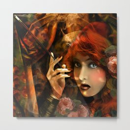 Experiment -Lillian Gish- Metal Print