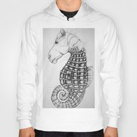 sea horse Hoodies featuring Sea Horse by Stephanie Darling