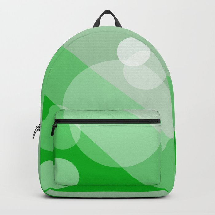 Five Spheres Abstract - Green Backpack