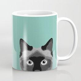 Ezra - Siamese Cat, Cute Kitten Retro Cat Art cell phone case, siamese, cute cat Coffee Mug