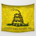 Gadsden Flag, Don't Tread On Me in Vintage Grunge by brucestanfield