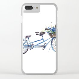Tandem bicycle Clear iPhone Case