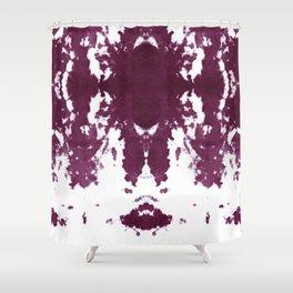 Velvet Kumo Shibori Plum Shower Curtain