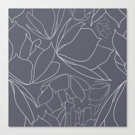 Breakfast Tea - Blue Canvas Print