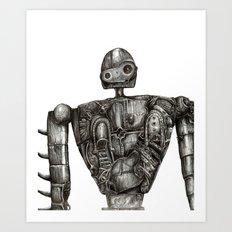 Laputa Robot Art Print