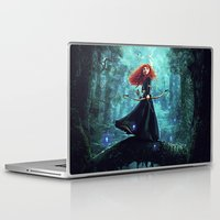 be brave Laptop & iPad Skins featuring Brave by Juniper Vinetree