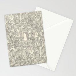 vintage halloween drab ivory Stationery Cards
