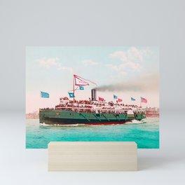 Steamboat - City Of Erie - Circa 1900 Photochrom Mini Art Print