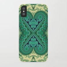 Tribal Twin Hearts iPhone X Slim Case