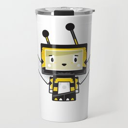 Cute Cartoon Blockimals Bee Travel Mug
