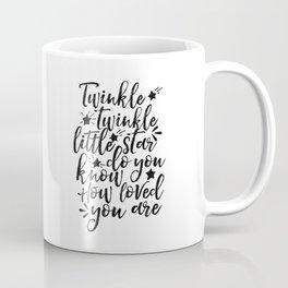 twinkle twinkle little star,nursery decor,kids room decor,kids gift,quote prints,love sign Coffee Mug