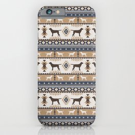 Boho dogs | Labrador retriever tan iPhone Case