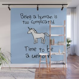 Time To Be A Unicorn Wall Mural