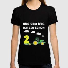 Kinder 2. Geburtstag Ich bin schon 2 Jahre Traktor Trecker  T-shirt