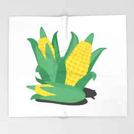 Farmers Corn Throw Blanket