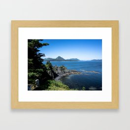 Sky Blue, Oceans Bluer Framed Art Print