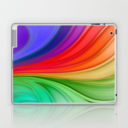 Abstract Rainbow Background Laptop & iPad Skin