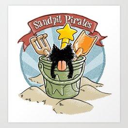 Sandpit Pirates (Sky Blue) Art Print