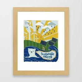 Sustainable stuff Framed Art Print