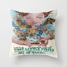 Tiny Little Pieces Throw Pillow