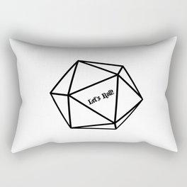 Let's Roll! D20 Rectangular Pillow
