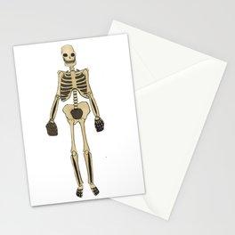 Skeleton Inktober Stationery Cards
