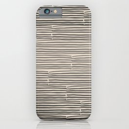 hand drawn light lines – charcoal iPhone Case