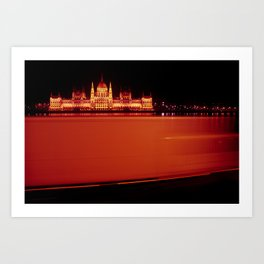 Red Flash Art Print