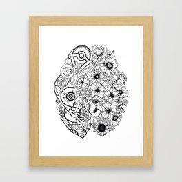 Left Brain - Right Brain Framed Art Print