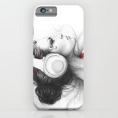 I Love Music   Girl in Headphones Slim Case iPhone 6s