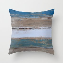 Beach House Decor Five Stripes Throw Pillow