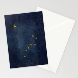 Alaskan State Flag, Distressed worn style Stationery Cards