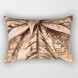 Warm toned sepia sketcing Rectangular Pillow