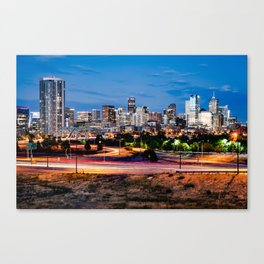 Denver Mile High Skyline Canvas Print