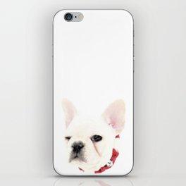 Winking French Bulldog iPhone Skin
