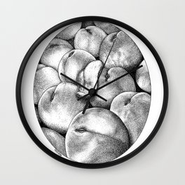 asc 628 - Les pêches de l'empereur (More juicy fruits) Wall Clock