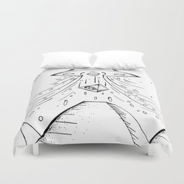 UFO Pyramid Capture Duvet Cover