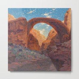 Rainbow Bridge, Glen Canyon, Utah Landscape Painting by William R. Leigh Metal Print
