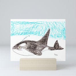 Orca Baby Mini Art Print
