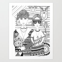 Mountain People Art Print