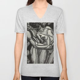 Embrace, Engraving from Song of Solomon 1929 by Cecil Buller Unisex V-Neck