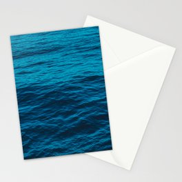 water surface, Blue ocean waves - deep blue sea Stationery Cards