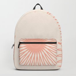 Cream and Coral Backpack