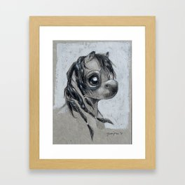 Braided Beauty Framed Art Print