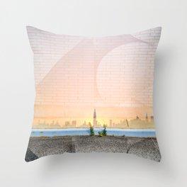 Greenpoint Sunset Throw Pillow