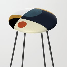 mid century abstract shapes fall winter 4 Counter Stool