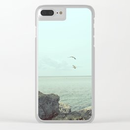 Flying on the rocks Clear iPhone Case