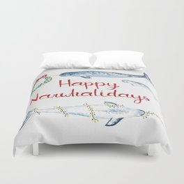 Happy Narwhalidays Duvet Cover